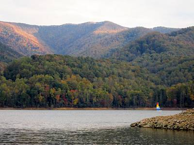 Mountain Photograph - Sail Boat And Mountains by Cynthia  Clark