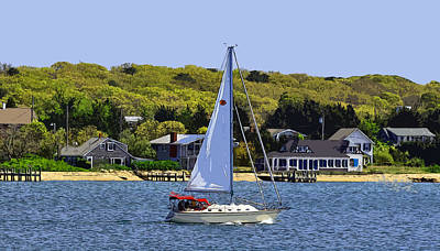 Digital Art - Sail Boat In New England by Kirt Tisdale