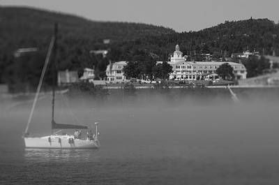 Photograph - Sail Boat In Tadoussac Harbour by Martin New