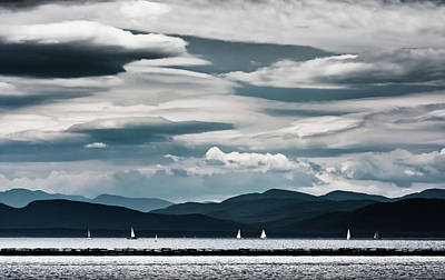 Vermont Photograph - Sail Boats by Adam Jeffery Photography