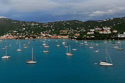 Photograph - Sail Boats And St Thomas by Willie Harper