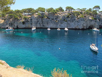 Caravaggio - Sail Boats at Calanque de Port Miou in Cassis France by Luis Moya