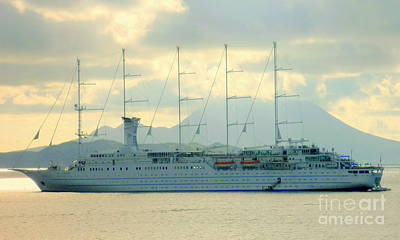 Photograph - Sail Cruise Ship by John Potts