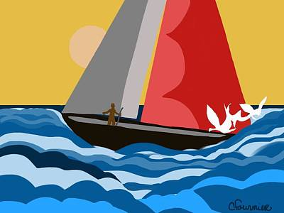 Sail Day Art Print by Christine Fournier