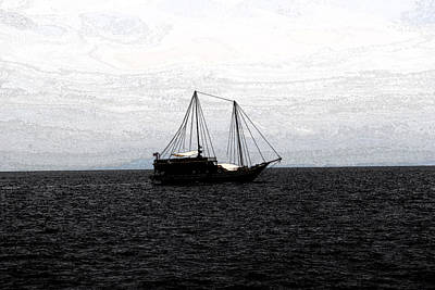 Digital Art - Sail In The Black Sea by Vijinder Singh