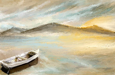 Sailboat Art Painting - Sail Into The Sun by Lourry Legarde