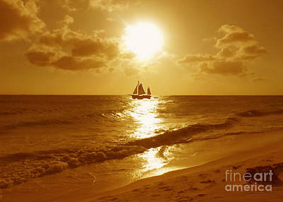 Boating Digital Art - Sail On by Cristophers Dream Artistry