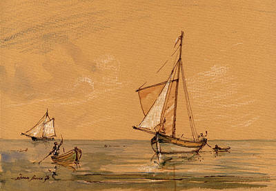Sail Ship Art Print by Juan  Bosco