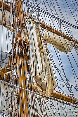 Photograph - Sail Ship Mast  by Susan Candelario