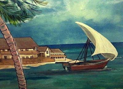Sail Storm Art Print