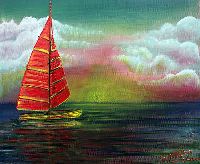 Sun Painting - Sail The Horizon by Laura Barbosa