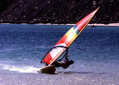 Photograph - Sailboarding Bahia Concepcion by Robert  Rodvik