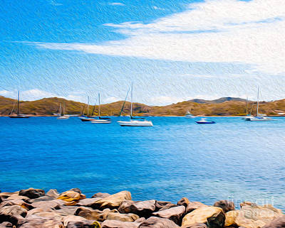 Digital Art - Sailboat Adventure In San Juan Puerto Rico by Kenneth Montgomery