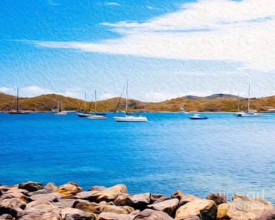 Sailboat Adventure In San Juan Puerto Rico Art Print