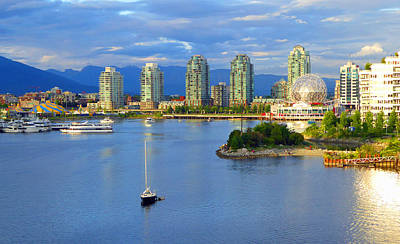 Photograph - Sailboat And Science World by Laurie Tsemak