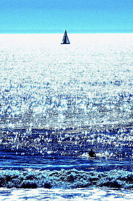 Photograph - Sailboat And Swimmer by Brian D Meredith