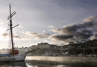 Photograph - Sir Robert Sail Boat Under A Cloudy Sky  At The Stunning Port Mahon - Menorca  by Pedro Cardona