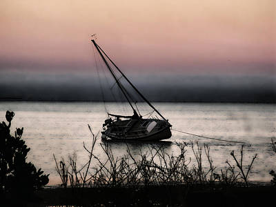 Photograph - Sailboat At Dawn by Oscar Alvarez Jr