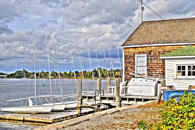 Photograph - Sailboat At The Dock by Donald Williams