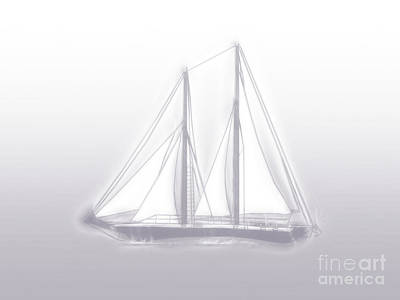 Digital Art - Sailboat Background Lavender by Methune Hively