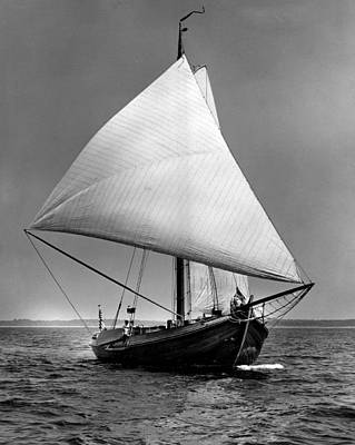 With Photograph - Sailboat Coming Into View by Retro Images Archive