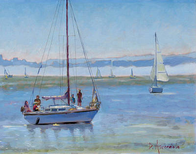 Sailboat Coming To Port Art Print by Dominique Amendola