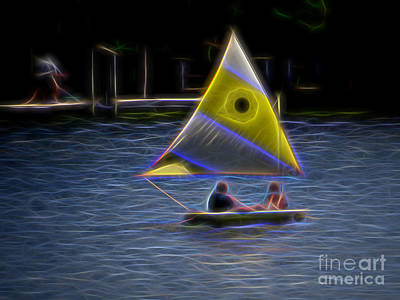 Photograph - Yellow Sailboat by Dawn Gari