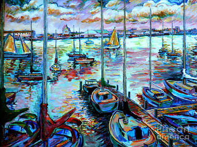 Sailboat Harbor Art Print