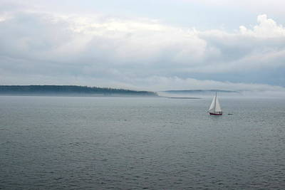 Photograph - Sailboat In Bar Harbor by Toby McGuire