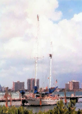 Photograph - Sailboat In Brush Stroke by Belinda Lee