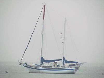 Sailboat In Fog Art Print