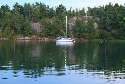 Photograph - Sailboat In Killarney Channel by Nina Silver