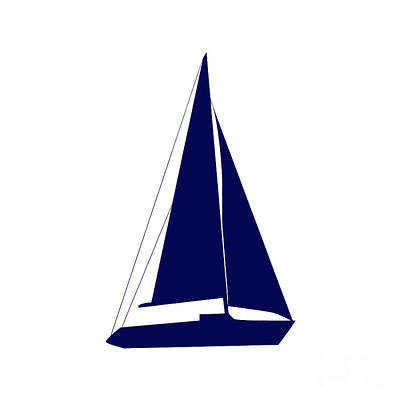 Photograph - Sailboat In Navy And White by Jackie Farnsworth