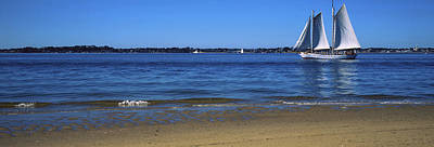 Sailboat In Ocean, Provincetown, Cape Art Print by Panoramic Images