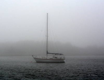 Sailboat In The Fog Art Print