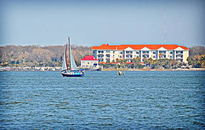 Photograph - Sailboat In The Harbor by Linda Brown