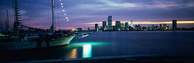 Sailboat In The Sea, Miami, Miami-dade Print by Panoramic Images