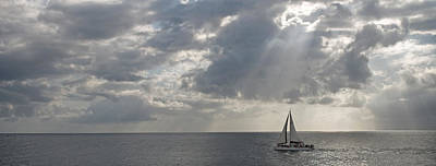 Sailboat Photograph - Sailboat In The Sea, Negril, Jamaica by Panoramic Images