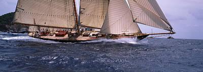 Sailboat In The Sea, Schooner, Antigua Art Print