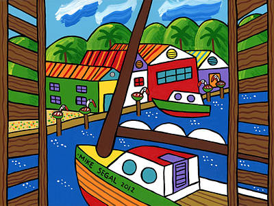 Painting - Sailboat In The Window by Mike Segal