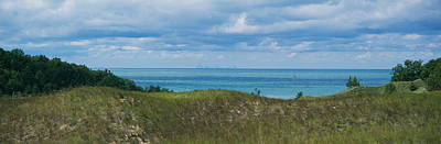 Sailboat In Water, Indiana Dunes State Art Print by Panoramic Images