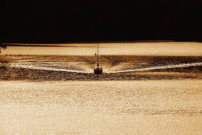 Photograph - Sailboat Iv - Sepia by Tom Culver