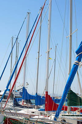 Sailboat Masts Art Print by Artist and Photographer Laura Wrede