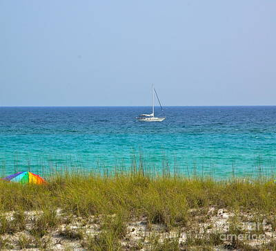 Ocean Photograph - Sailboat by Megan Cohen