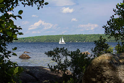 Photograph - Sailboat On Branch Lake by Kirkodd Photography Of New England