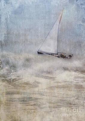 Sailboat On High Seas Art Print