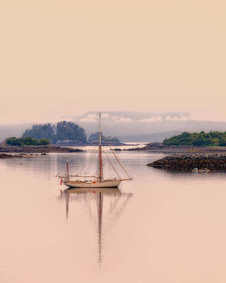 Photograph - Sailboat On Inside Passage Of Alaska by June Jacobsen