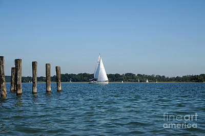 Photograph - sailboat on Lake Chiemsee by Angela Kail