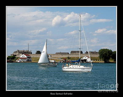 Photograph - Sailboat On Lake Ontario Near Old Fort Niagara 2 by Rose Santuci-Sofranko