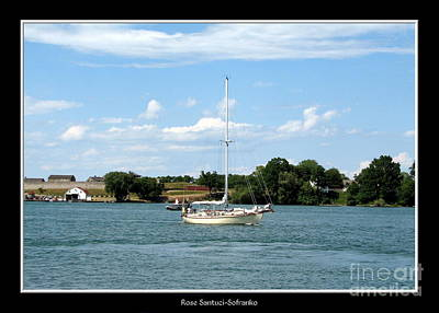 Photograph - Sailboat On Lake Ontario Near Old Fort Niagara by Rose Santuci-Sofranko